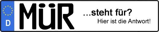 Wofür steht das Kfz-Kennzeichen MÜR?   Kfz-Kennzeichen - AUTOPURISTEN.net
