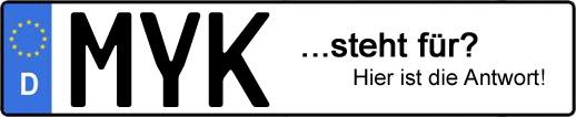 Wofür steht das Kfz-Kennzeichen MYK? | Kfz-Kennzeichen - AUTOPURISTEN.net