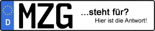 Wofür steht das Kfz-Kennzeichen MZG? | Kfz-Kennzeichen - AUTOPURISTEN.net