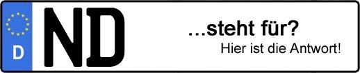 Wofür steht das Kfz-Kennzeichen ND? | Kfz-Kennzeichen - AUTOPURISTEN.net
