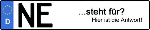 Wofür steht das Kfz-Kennzeichen NE? | Kfz-Kennzeichen - AUTOPURISTEN.net