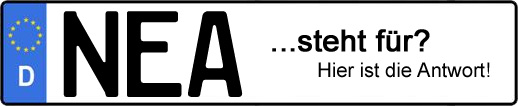 Wofür steht das Kfz-Kennzeichen NEA? | Kfz-Kennzeichen - AUTOPURISTEN.net