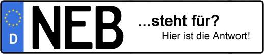 Wofür steht das Kfz-Kennzeichen NEB? | Kfz-Kennzeichen - AUTOPURISTEN.net