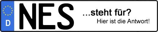 Wofür steht das Kfz-Kennzeichen NES? | Kfz-Kennzeichen - AUTOPURISTEN.net