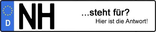 Wofür steht das Kfz-Kennzeichen NH? | Kfz-Kennzeichen - AUTOPURISTEN.net