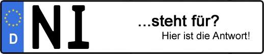 Wofür steht das Kfz-Kennzeichen NI? | Kfz-Kennzeichen - AUTOPURISTEN.net