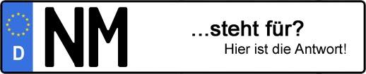 Wofür steht das Kfz-Kennzeichen NM? | Kfz-Kennzeichen - AUTOPURISTEN.net