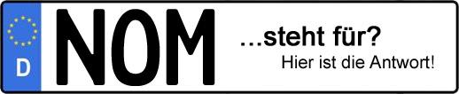 Wofür steht das Kfz-Kennzeichen NOM?   Kfz-Kennzeichen - AUTOPURISTEN.net