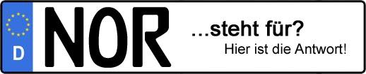 Wofür steht das Kfz-Kennzeichen NOR? | Kfz-Kennzeichen - AUTOPURISTEN.net