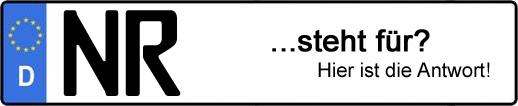 Wofür steht das Kfz-Kennzeichen NR? | Kfz-Kennzeichen - AUTOPURISTEN.net