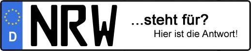 Wofür steht das Kfz-Kennzeichen NRW?   Kfz-Kennzeichen - AUTOPURISTEN.net