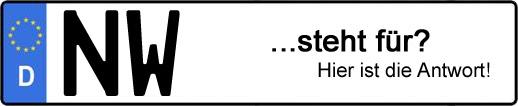 Wofür steht das Kfz-Kennzeichen NW? | Kfz-Kennzeichen - AUTOPURISTEN.net