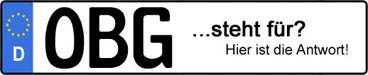 Wofür steht das Kfz-Kennzeichen OBG? | Kfz-Kennzeichen - AUTOPURISTEN.net
