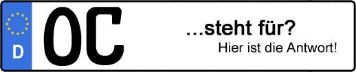 Wofür steht das Kfz-Kennzeichen OC? | Kfz-Kennzeichen - AUTOPURISTEN.net