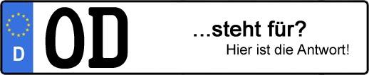 Wofür steht das Kfz-Kennzeichen OD? | Kfz-Kennzeichen - AUTOPURISTEN.net