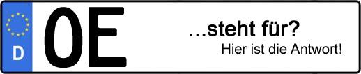 Wofür steht das Kfz-Kennzeichen OE? | Kfz-Kennzeichen - AUTOPURISTEN.net