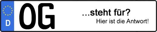 Wofür steht das Kfz-Kennzeichen OG? | Kfz-Kennzeichen - AUTOPURISTEN.net
