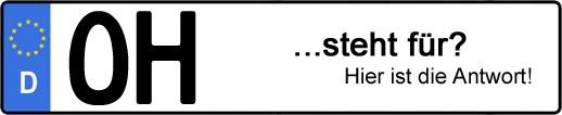 Wofür steht das Kfz-Kennzeichen OH? | Kfz-Kennzeichen - AUTOPURISTEN.net