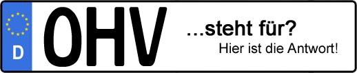 Wofür steht das Kfz-Kennzeichen OHV? | Kfz-Kennzeichen - AUTOPURISTEN.net