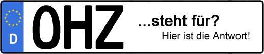 Wofür steht das Kfz-Kennzeichen OHZ? | Kfz-Kennzeichen - AUTOPURISTEN.net