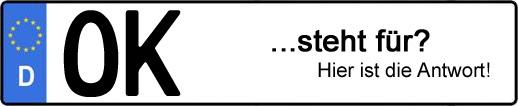 Wofür steht das Kfz-Kennzeichen OK? | Kfz-Kennzeichen - AUTOPURISTEN.net