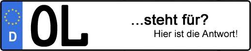 Wofür steht das Kfz-Kennzeichen OL? | Kfz-Kennzeichen - AUTOPURISTEN.net