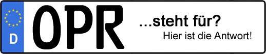 Wofür steht das Kfz-Kennzeichen OPR? | Kfz-Kennzeichen - AUTOPURISTEN.net