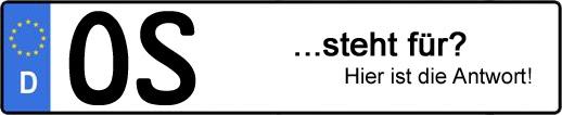 Wofür steht das Kfz-Kennzeichen OS? | Kfz-Kennzeichen - AUTOPURISTEN.net