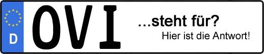 Wofür steht das Kfz-Kennzeichen OVI? | Kfz-Kennzeichen - AUTOPURISTEN.net