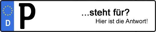 Wofür steht das Kfz-Kennzeichen P? | Kfz-Kennzeichen - AUTOPURISTEN.net