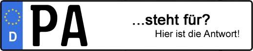Wofür steht das Kfz-Kennzeichen PA? | Kfz-Kennzeichen - AUTOPURISTEN.net