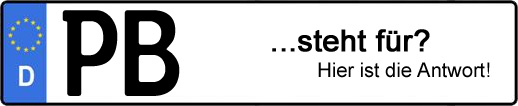 Wofür steht das Kfz-Kennzeichen PB? | Kfz-Kennzeichen - AUTOPURISTEN.net