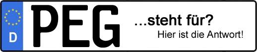 Wofür steht das Kfz-Kennzeichen PEG? | Kfz-Kennzeichen - AUTOPURISTEN.net