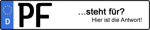 Wofür steht das Kfz-Kennzeichen PF? | Kfz-Kennzeichen - AUTOPURISTEN.net