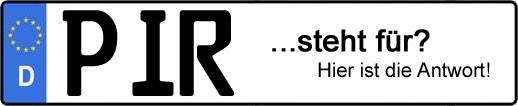 Wofür steht das Kfz-Kennzeichen PIR? | Kfz-Kennzeichen - AUTOPURISTEN.net