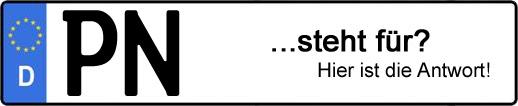 Wofür steht das Kfz-Kennzeichen PN? | Kfz-Kennzeichen - AUTOPURISTEN.net