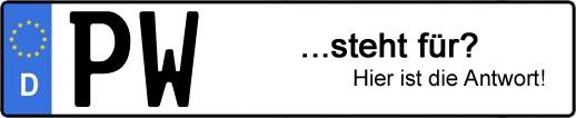 Wofür steht das Kfz-Kennzeichen PW? | Kfz-Kennzeichen - AUTOPURISTEN.net
