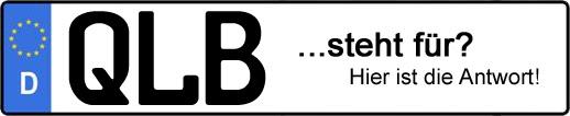 Wofür steht das Kfz-Kennzeichen QLB? | Kfz-Kennzeichen - AUTOPURISTEN.net