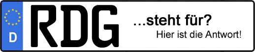 Wofür steht das Kfz-Kennzeichen RDG?   Kfz-Kennzeichen - AUTOPURISTEN.net