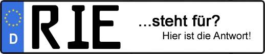 Wofür steht das Kfz-Kennzeichen RIE?   Kfz-Kennzeichen - AUTOPURISTEN.net