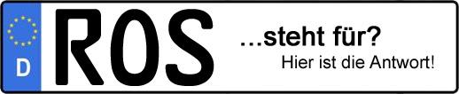 Wofür steht das Kfz-Kennzeichen ROS?   Kfz-Kennzeichen - AUTOPURISTEN.net