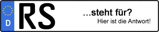 Wofür steht das Kfz-Kennzeichen RS?   Kfz-Kennzeichen - AUTOPURISTEN.net