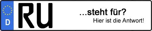 Wofür steht das Kfz-Kennzeichen RU?   Kfz-Kennzeichen - AUTOPURISTEN.net