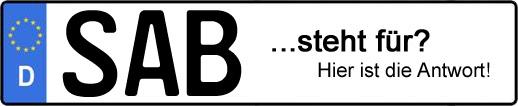 Wofür steht das Kfz-Kennzeichen SAB? | Kfz-Kennzeichen - AUTOPURISTEN.net