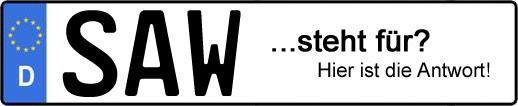 Wofür steht das Kfz-Kennzeichen SAW? | Kfz-Kennzeichen - AUTOPURISTEN.net