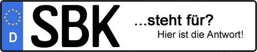 Wofür steht das Kfz-Kennzeichen SBK? | Kfz-Kennzeichen - AUTOPURISTEN.net