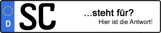 Wofür steht das Kfz-Kennzeichen SC? | Kfz-Kennzeichen - AUTOPURISTEN.net