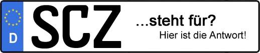 Wofür steht das Kfz-Kennzeichen SCZ? | Kfz-Kennzeichen - AUTOPURISTEN.net
