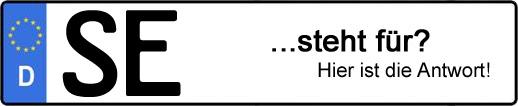 Wofür steht das Kfz-Kennzeichen SE? | Kfz-Kennzeichen - AUTOPURISTEN.net