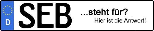 Wofür steht das Kfz-Kennzeichen SEB? | Kfz-Kennzeichen - AUTOPURISTEN.net